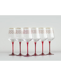 LOMONOSOV IMPERIAL GLASS WINE RED NET SET 6 PC 370 ML/12.5 FL.OZ