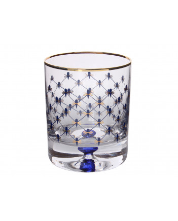 LOMONOSOV IMPERIAL GLASS LOWBALL WHISKEY WATER COBALT NET SET 6 PC 250 ML/8.5 FL.OZ