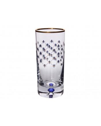 LOMONOSOV IMPERIAL GLASS HIGHBALL JUICE WATER COBALT NET SET 6 PC 300 ML/10.1 FL.OZ