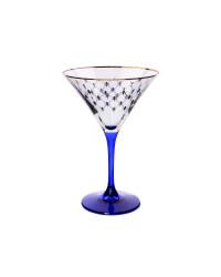 LOMONOSOV IMPERIAL GLASS MARTINI COBALT NET SET 6 PC 150 ML/5 FL.OZ