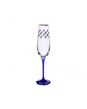 LOMONOSOV IMPERIAL GLASS CHAMPAGNE BUBBLY WINE COBALT NET SET 6 PC 200 ML/6.8 FL.OZ