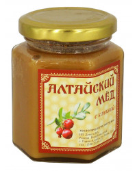 ECO ORGANIC NATURAL RUSSIAN SIBERIAN CREAMED SPREAD HONEY WITH CRANBERRY