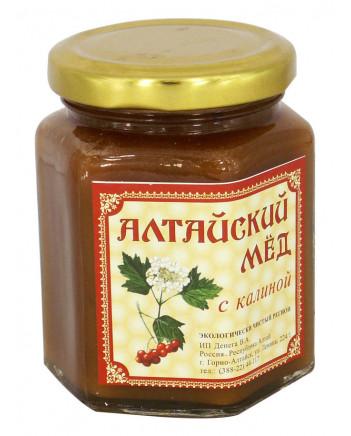 ECO ORGANIC NATURAL RUSSIAN SIBERIAN CREAMED SPREAD HONEY WITH VIBURNUM GUELDER-ROSE