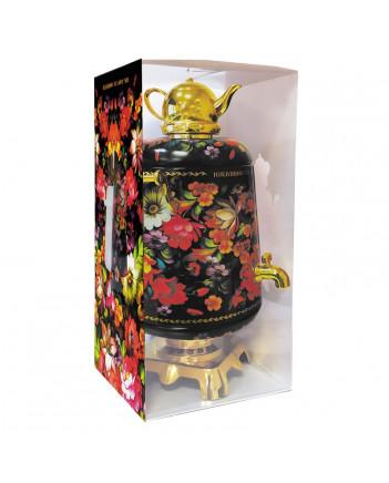 BLACK TEA IN METAL GIFT SAMOVAR BOX ZHOSTOVO BLACK 75 GR 2.6 OZ