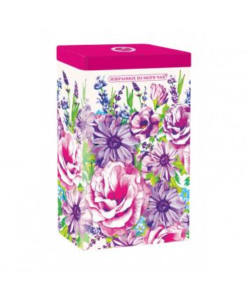 BLACK TEA IN METAL GIFT BOX ZHOSTOVO FLOWERS PINK 75 GR 2.6 OZ