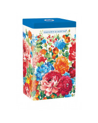 BLACK TEA IN METAL GIFT BOX ZHOSTOVO FLOWERS BLUE 75 GR 2.6 OZ