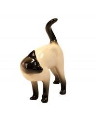 LOMONOSOV IMPERIAL PORCELAIN FIGURINE CAT SIAMESE