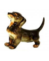 LOMONOSOV IMPERIAL PORCELAIN FIGURINE DOG DACHSHUND