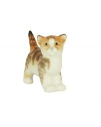 LOMONOSOV IMPERIAL PORCELAIN FIGURINE CAT RED KITTEN