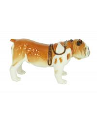LOMONOSOV IMPERIAL PORCELAIN FIGURINE DOG ENGLISH BULLDOG