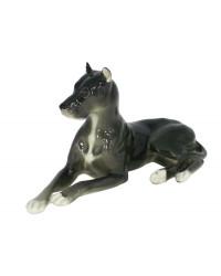 LOMONOSOV IMPERIAL PORCELAIN FIGURINE DOG GREAT DANE BLACK
