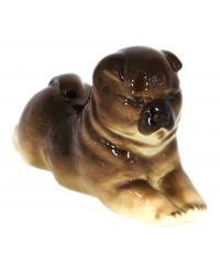 LOMONOSOV IMPERIAL PORCELAIN FIGURINE DOG CHOW CHOW