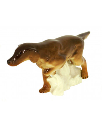 LOMONOSOV IMPERIAL PORCELAIN FIGURINE DOG IRISH SETTER