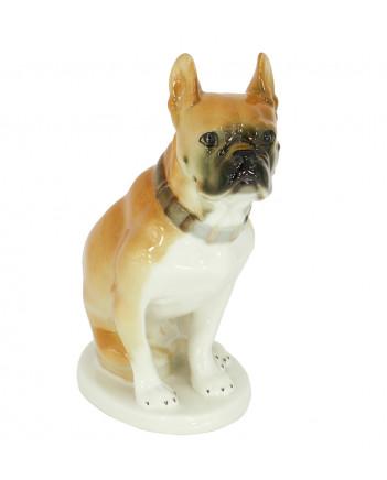 LOMONOSOV IMPERIAL PORCELAIN FIGURINE DOG BOXER