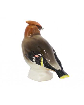 LOMONOSOV IMPERIAL PORCELAIN FIGURINE BIRD WAXWING #2