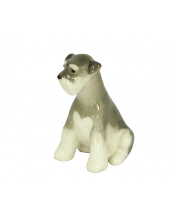 LOMONOSOV IMPERIAL PORCELAIN FIGURINE DOG MINIATURE SCHNAUZER PUPPY