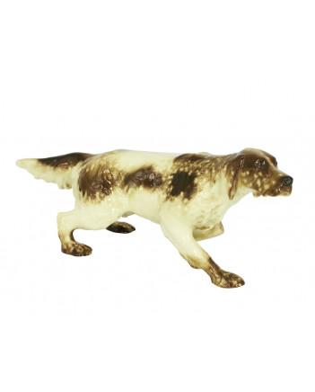 LOMONOSOV IMPERIAL PORCELAIN FIGURINE DOG SETTER