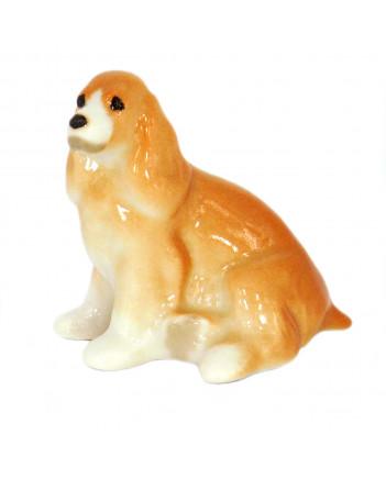 LOMONOSOV IMPERIAL PORCELAIN FIGURINE DOG SPANIEL APRICOT