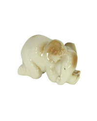 LOMONOSOV IMPERIAL PORCELAIN FIGURINE ELEPHANT BABY SLEEPING