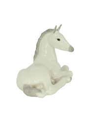 LOMONOSOV IMPERIAL PORCELAIN FIGURINE HORSE WHITE