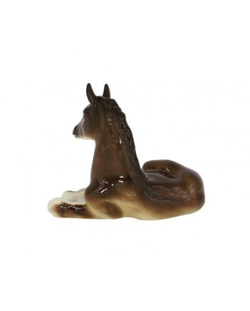 LOMONOSOV IMPERIAL PORCELAIN FIGURINE HORSE BROWN
