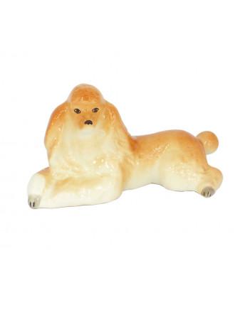 LOMONOSOV IMPERIAL PORCELAIN FIGURINE DOG POODLE APRICOT