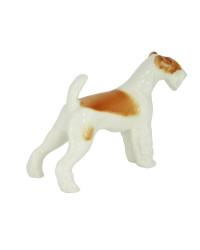 LOMONOSOV IMPERIAL PORCELAIN FIGURINE DOG FOX TERRIER