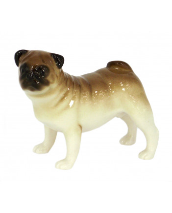 LOMONOSOV IMPERIAL PORCELAIN FIGURINE DOG PUG STANDING