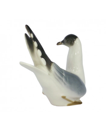 LOMONOSOV IMPERIAL PORCELAIN FIGURINE BIRD BLACK-HEADED SEAGULL