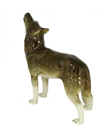 LOMONOSOV IMPERIAL PORCELAIN FIGURINE WOLF STANDING
