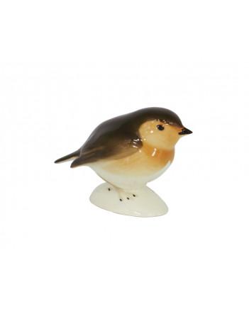 LOMONOSOV IMPERIAL PORCELAIN FIGURINE BIRD ROBIN SMALL