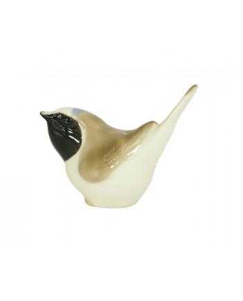 LOMONOSOV IMPERIAL PORCELAIN FIGURINE BIRD REDSTART