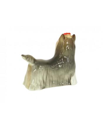 LOMONOSOV IMPERIAL PORCELAIN FIGURINE DOG YORKSHIRE TERRIER