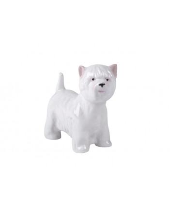 LOMONOSOV IMPERIAL PORCELAIN FIGURINE DOG WHITE WEST HIGHLAND TERRIER