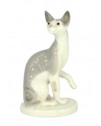 LOMONOSOV IMPERIAL PORCELAIN FIGURINE CAT GRAY SPHYNX