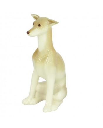 LOMONOSOV IMPERIAL PORCELAIN FIGURINE DOG ITALIAN GRAYHOUND