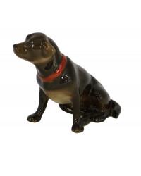 LOMONOSOV IMPERIAL PORCELAIN FIGURINE DOG LABRADOR CHOCOLATE BROWN
