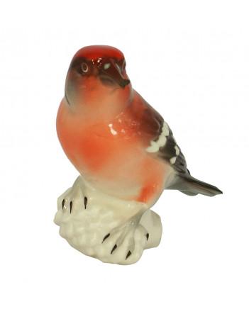 LOMONOSOV IMPERIAL PORCELAIN FIGURINE BIRD CROSSBILL