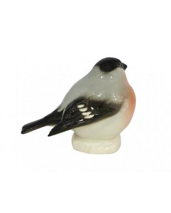 LOMONOSOV IMPERIAL PORCELAIN FIGURINE BIRD BULLFINCH