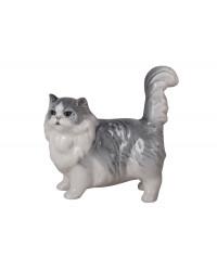 LOMONOSOV IMPERIAL PORCELAIN FIGURINE CAT GRAY PERSIAN