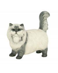 LOMONOSOV IMPERIAL PORCELAIN FIGURINE CAT BEIGE PERSIAN