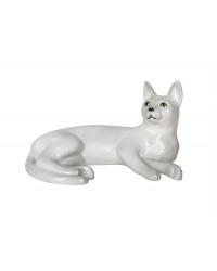 LOMONOSOV IMPERIAL PORCELAIN FIGURINE CAT WHITE KITTY