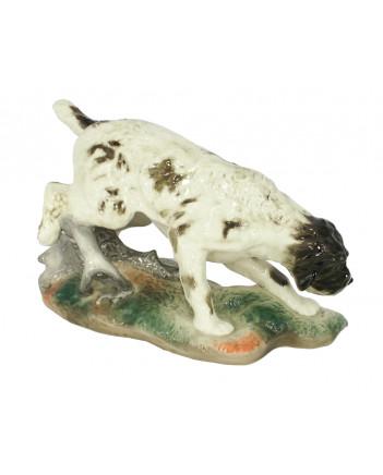 LOMONOSOV IMPERIAL PORCELAIN FIGURINE DOG GERMAN GRIFFON