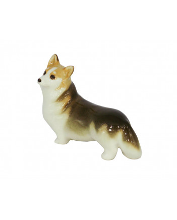 LOMONOSOV IMPERIAL PORCELAIN FIGURINE DOG WELSH CORGI
