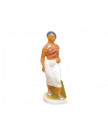 LOMONOSOV IMPERIAL PORCELAIN FIGURINE WALKING GIRL