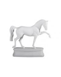 LOMONOSOV IMPERIAL PORCELAIN FIGURINE HORSE HANOVERIAN WHITE