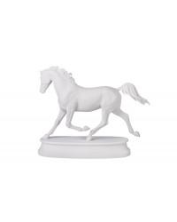 LOMONOSOV IMPERIAL PORCELAIN FIGURINE HORSE ARABIAN WHITE