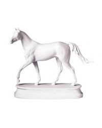 LOMONOSOV IMPERIAL PORCELAIN FIGURINE HORSE AKHAL-TEKE WHITE