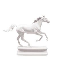 LOMONOSOV IMPERIAL PORCELAIN FIGURINE HORSE ANGLO-ARABIAN WHITE