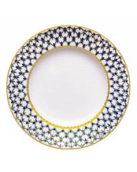 """LOMONOSOV IMPERIAL PORCELAIN DINNER PLATE COBALT NET 24 cm/9.4"""""""